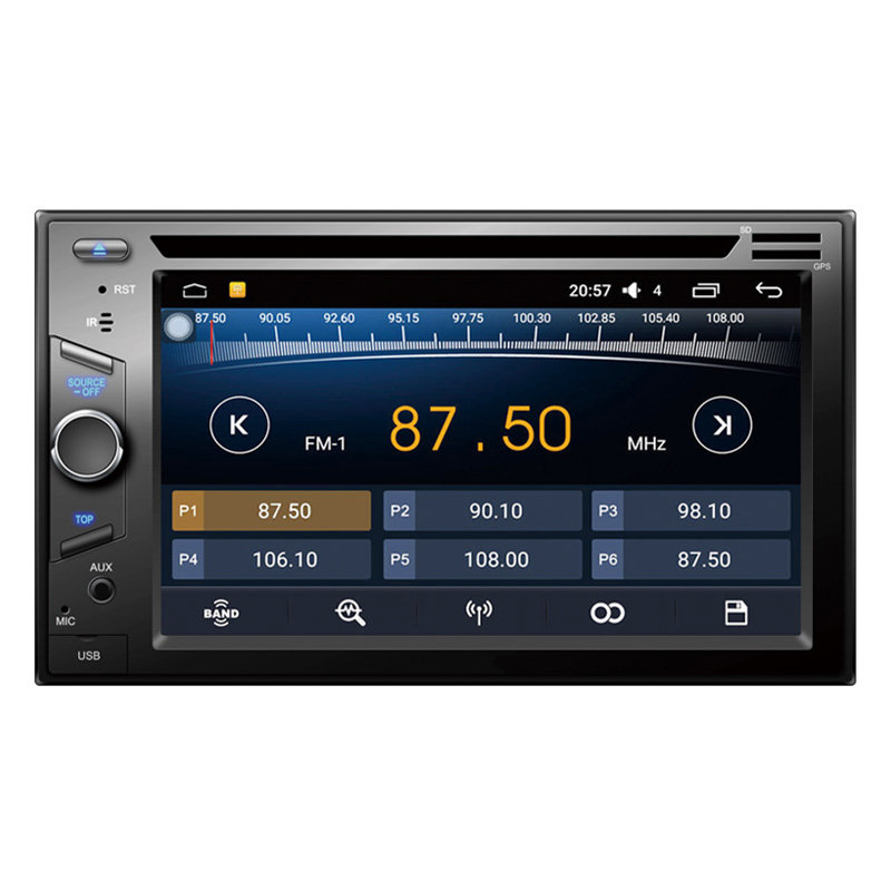 2 DIN car stereo DVD player 6.2 inch touch screen support DVD+CD+Disk audio radio universal 9252