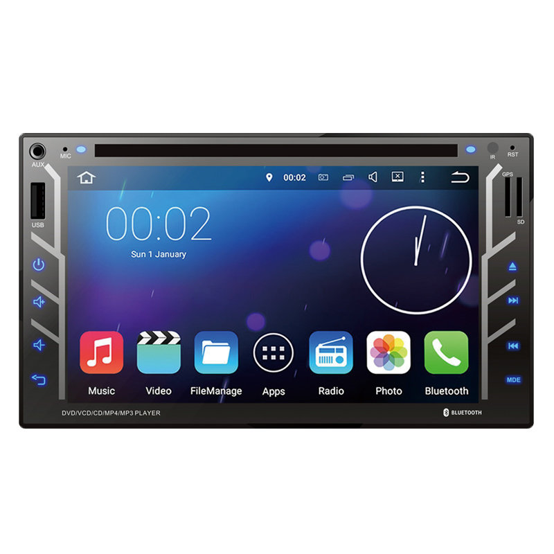 Universal Double Din 6.2 Inch Car DVD 9237A