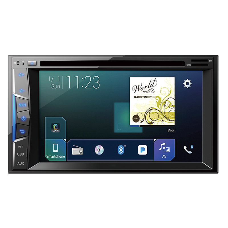 Double DIN car DVD player 6.2 inch touch screen support DVD+CD+Disk audio radio universal 9251