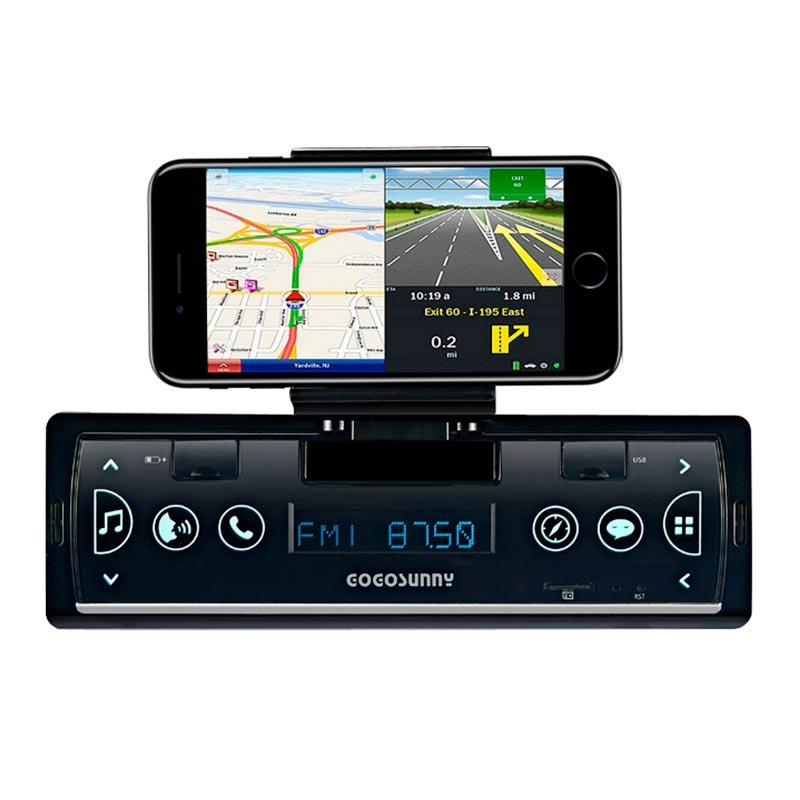 Full touch Smartlink with car MP3/mobile phone holder/APP control/fast charging model No. GT1901