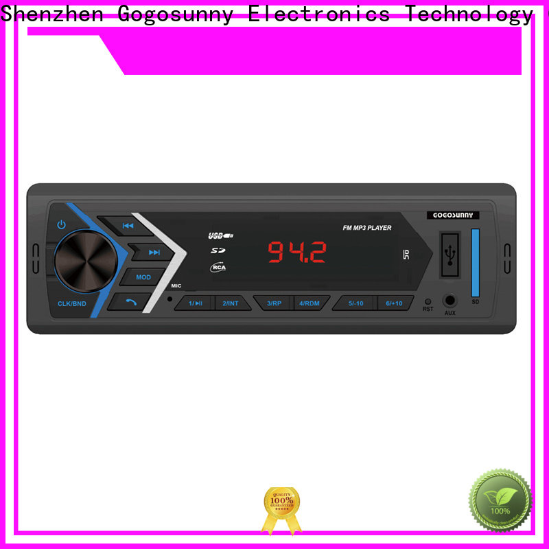 best car MP3 with fixed front panel manufacturing for vehicle