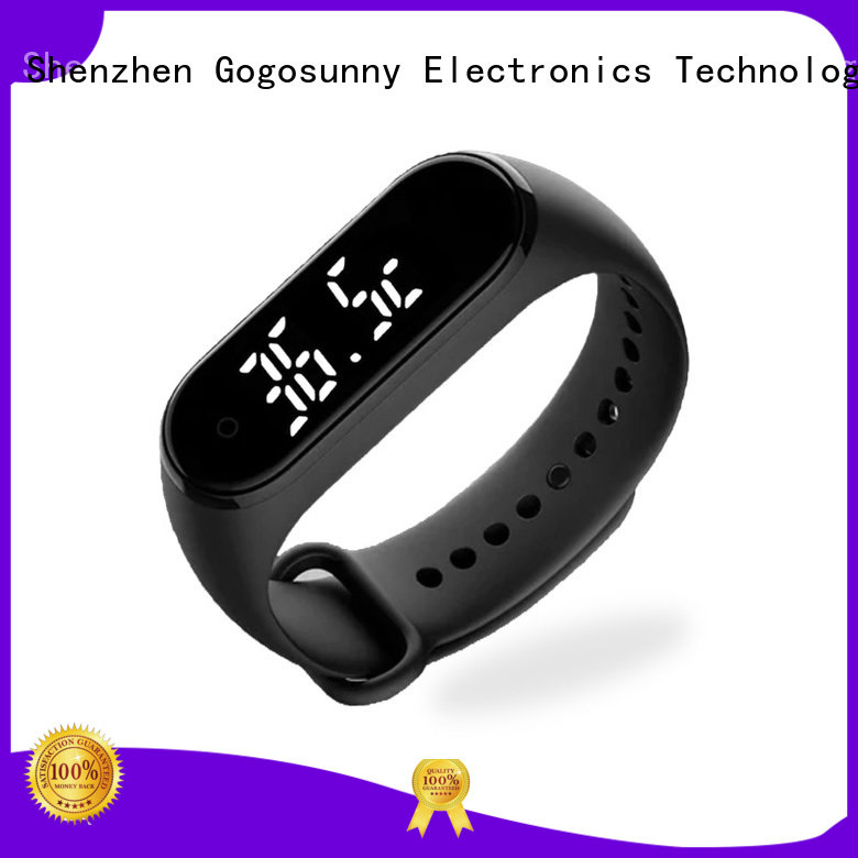 Gogosunny smart bracelet with temperature display supplier for students