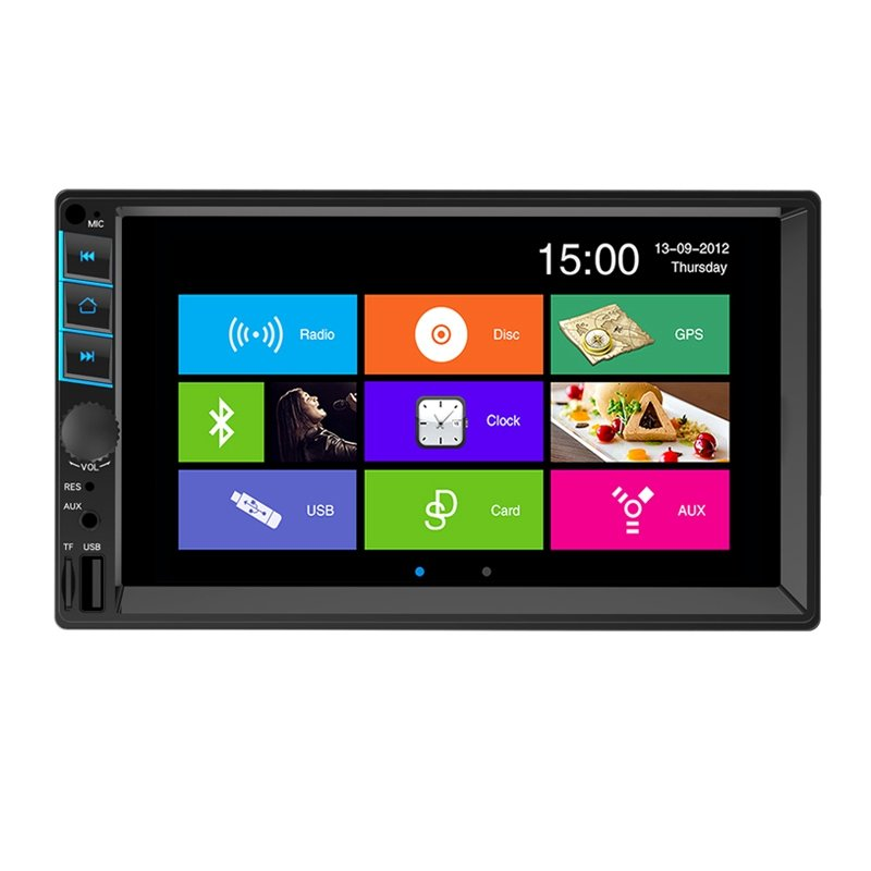Car Stereo 7 Inch resistive/Capacitive touch screen Double Din Car MP5(MP4) 7055