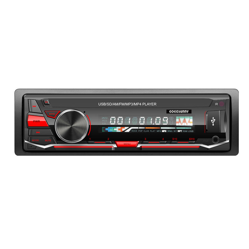 Detachable panel RGB multi-color light Car MP3 player with model No. 3252