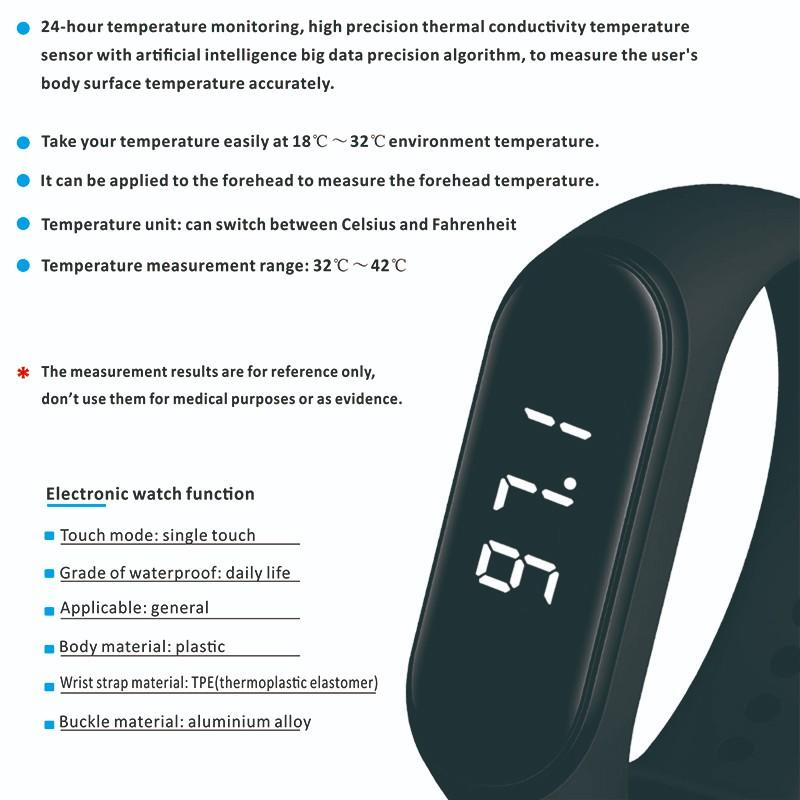 Gogosunny high tech smart bracelet with temperature sensor wholesale for men-1