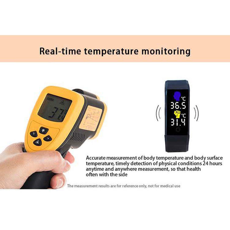 high tech digital watch with temperature manufacturing for men-2